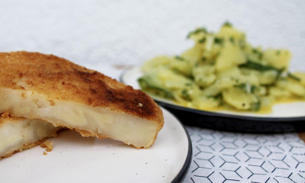Rezeptbild Sellerieschnitzel mit Kartoffel-Gurken-Salat